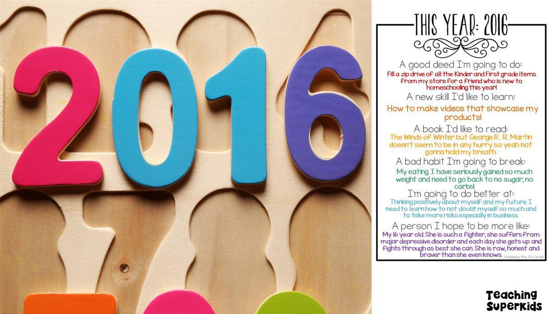 New Years 2016 Goals