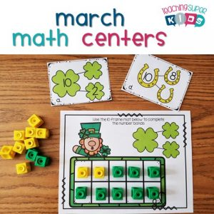 Kindergarten Math Centers for March