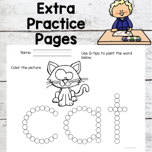 Word family extra practice pages